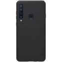 NILLKINFROSTEDA92018 - Coque Galaxy-A9 2018 Nillkin Frosted-Shiled rigide noir mat texturée