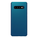 NILLKN-FROST-S10PLUSBLEU - Coque robuste Galaxy S10+ Nillkin Frosted bleue nuit