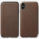 Etui Nomad Folio Rugged cuir marron iPhone XS-MAX