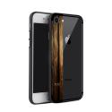 NXE-COVIP7CAMPHORWOOD - Coque contour souple iPhone 7/8 avec bande motif bois CamphorWood