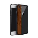 NXE-COVIP7ROSEWOOD - Coque contour souple iPhone 7/8 avec bande motif bois