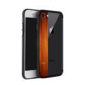 NXE-COVIP7SILKWOOD - Coque contour souple iPhone 7/8 avec bande motif bois Silkwood
