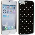 NZDIAM-IP5-NOIR - Coque noire aspect diamants iPhone 5