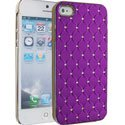 NZDIAM-IP5-VIOLET - Coque violet aspect diamants iPhone 5