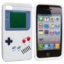 NZGAMEBOY-IP4-GR - Housse TPU Game Boy Blanche pour iPhone 4S 4 sign�e Nzup