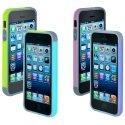 PACKBUMPBICOLIP5C - Pack de deux bumpers de protection pour iPhone 5c
