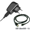 PACKSECTEURMICROUSB - Pack Micro-USB 2 parties secteur 220v avec prise USB et câble micro-USB