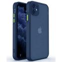 PEACH-IP12PROMAXBLEU - Coque souple iPhone 12 Pro Max Peach-Garden de Goospery coloris bleu