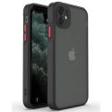 PEACH-IP12PROMAXNOIR - Coque souple iPhone 12 Pro Max Peach-Garden de Goospery coloris noir