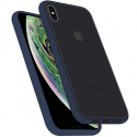 PEACH-IPXSBLEU - Coque souple iPhone XS Peach-Garden de Goospery coloris bleu