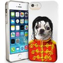PETSRKIP5POP - Coque souple pour iPhone 5s motif chien King Of Pop