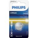 PHILIPS-CR2032 - Pile bouton Philips CR2032 au lithium 3V CR-2032