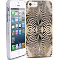 PURO-IPC5ZEBRAGOLD - Coque Puro Just-Cavalli iPhone SE motif Zebra