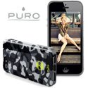 PURO_IPC5ARMYNOIR - Coque Army iPhone 5 Puro Army Camouflage Noir