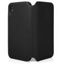 QDOS-MILANOIPXSNOIR - Etui folio en cuir véritable iPhone Xs noir de QDOS