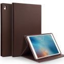 QIALINO-IPADAIR2MARRON - Housse Etui iPad Air 2 magnifique cuir marron avec rabat latéral fonction stand