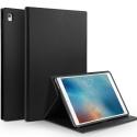 QIALINO-IPADAIR2NOIR - Housse Etui iPad Air 2 magnifique cuir noir avec rabat latéral fonction stand