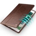 QIALINO-IPADPRO105MARRON - Housse Etui iPad Pro 10.5 magnifique cuir marron avec rabat latéral fonction stand