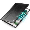 QIALINO-IPADPRO105NOIR - Housse Etui iPad Pro 10.5 magnifique cuir noir avec rabat latéral fonction stand