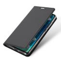 REDMI6PROGRIS - Etui Xiaomi Redmi-Note 6 PRO gris fin avec rabat latéral aimant invisible et coque souple