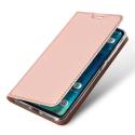REDMI6PROROSE - Etui Xiaomi Redmi-Note 6 PRO rose fin avec rabat latéral aimant invisible et coque souple