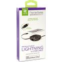 RETRAK-ETLTUSBBLK - Câble retractable Lightning pour iphone / iPad 1 mètre coloris noir