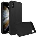 RHINO-SOLIDIPXSBROSSE - Coque RhinoShield pour iPhone Xs aspect métal noir brosé