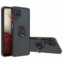 RINGO-REDMINOTE104G - Coque Redmi Note 10(4G) et Note 10s antichoc contour souple noir et dos aspect givré fumé avec anneau articulé