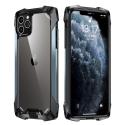 RJUST-FUZ12BLEU - Coque iPhone 12/12 Pro R-Just Fuzion bumper bleu et dos transparent