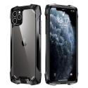 RJUST-FUZ12NOIR - Coque iPhone 12/12 Pro R-Just Fuzion bumper noir et dos transparent