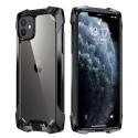 RJUST-FUZ12PMININOIR - Coque iPhone 12 Mini R-Just Fuzion bumper noir et dos transparent