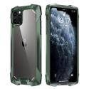 RJUST-FUZ12VERT - Coque iPhone 12/12 Pro R-Just Fuzion bumper vert et dos transparent