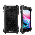 RJUST-SHOCKIP7NOIR - Coque iPhone 7/8 R-Just ShockProof noir métal + carbone