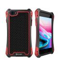 RJUST-SHOCKIP7ROUGE - Coque iPhone 7/8 R-Just ShockProof noir et rouge métal + carbone