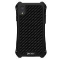 RJUST-SHOCKIPXRNOIR - Coque iPhone XR R-Just ShockProof noir métal + carbone