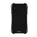 RJUST-SHOCKIPXSNOIR - Coque iPhone X/Xs R-Just ShockProof noir métal + carbone