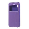 ROARVIEW-IPX-VIOLET - Etui iPhone X rabat latéral violet avec fenêtre de visualisation