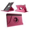 ROTATE-MEDIAPADT1-10FUSHIA - Etui rabat pour Huawei MediaPad T1-10 pouces coloris fushia fonction stand