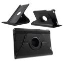 ROTATE-MEDIAPADT1-10NOIR - Etui rabat pour Huawei MediaPad T1-10 pouces coloris noir fonction stand