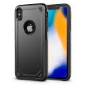 RUGGEDARMOR-IPXRNOIR - Coque renforcée iPhone XR hybride antichoc coloris noir