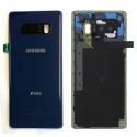 SAMFACEARN950BLEU - Dos origine Samsung Galaxy Note 8 en verre coloris bleu