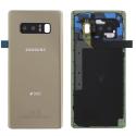 SAMFACEARN950GOLD - Dos origine Samsung Galaxy Note 8 en verre coloris gold