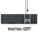 SATECHI-ST-AMWKM-FR - Clavier filaire AZERTY en USB pour Apple gris sidéral de SATECHI