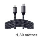 SATECHI-TCL18M - Câble 1,8m ultra robuste de Satechi priseUSB-C vers Lightning pour iPhone /iPad