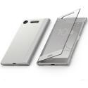 SCTG50CHAMPAGNE - Etui origine Sony Xperia XZ1 Style Cover Touch avec rabat tactile doré