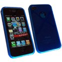 SEMIRIG-OND-IPHONE4-BLEU - Housse semi rigide Onde pour iPhone 4