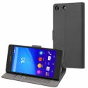 SESLI0159-XPM5 - Etui rabat latéral Slim Folio gris foncé Made for Sony Xperia M5