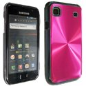 SHINY-I9000-ROS - Coque rigide Shiny brillante rose pour Galaxy S i9000