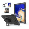 SHOULDER-TABS4 - Coque antichoc Galaxy Tab-S4 avec sangle bandoulière et poignée au dos