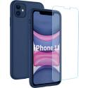 SILIGLASS-IP11BLEU - Pack 2en1 Coque + Vitre protection écran pour iPhone 11 coloris bleu